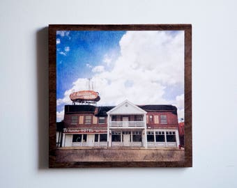 Hotel / Wood Canvas / Photography / WALL ART
