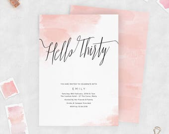 Downloadable Birthday Party Invitation | Hello Thirty