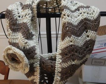 Handmade alpaca cowl