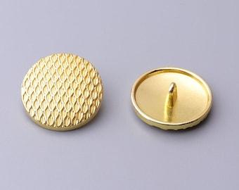 6pcs 25mm round metal button gold button diamond pattern button coat button