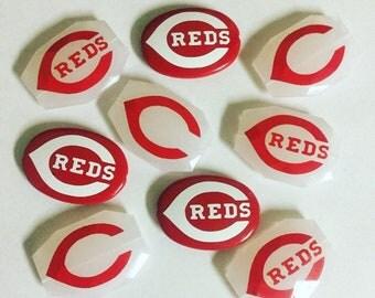 Cincinnati Reds Graphic Acrylic  Beads