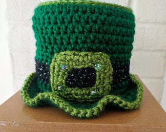 Irish Toilet Paper Tissue Roll Hat Cover Bathroom Decor St. Patrick's Day Shamrock F