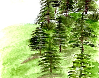 mountain with trees