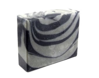 Tea Tree Charcoal Soap, organic, handmade artisan, with 100% natural essential oil