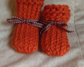 Handmade Knit Baby Booties