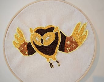 Cosmic Owl Adventure Time Embroidery