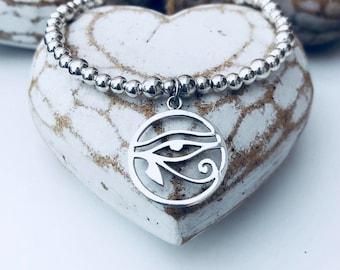 Sterling Silver EVIL EYE Charm Bracelet