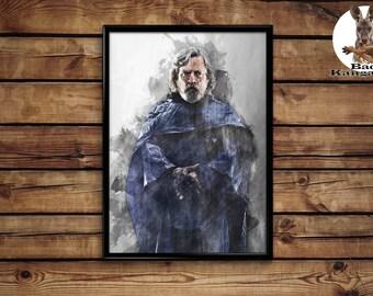 Luke Skywalker poster Srat Wars wall art home decor print