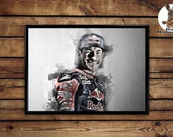 Nicky Hayden print wall art home decor poster