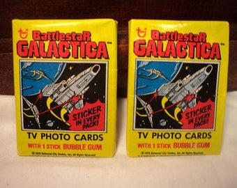 2 - 1978 TOPPS Battlestar Galacica Unopened Sealed Wax Packs