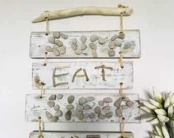 Shabby chic, timber, driftwood wall hanging