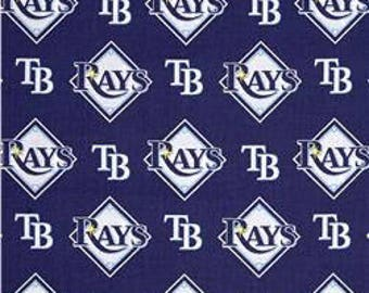 Tampa Bay Rays Cotton Fabric by the Yard