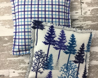 """Kozy Komfort """"Moscato"""" Style Rice Heating Pad, Hand Warmer, Ice and Hot Pack, Winter Forest and Plaid Pattern"""