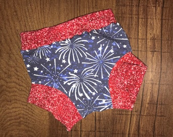 Fourth of July Shorts. Fourth of July Outfit. Independence Day Shorts. Fireworks Shorts