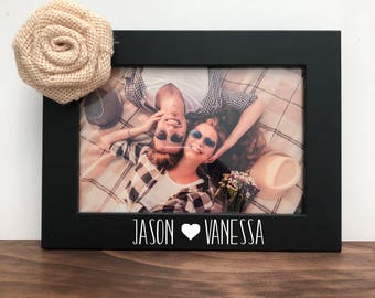Custom Couple Names Picture Frame, Gift for Boyfriend, Gift for Girlfriend, Couples picture frame, Christmas Gift