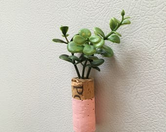 Painted Wine Cork Magnet