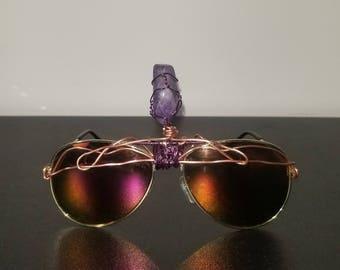 Third eye retro lepidolite sunglasses
