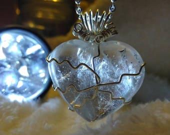 Clear Quartz Heart Pendant