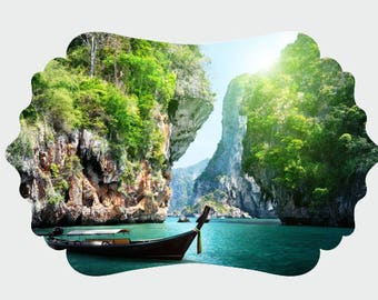 Phuket Thailand UV Printed MDF Wall Decor, Wood Decor