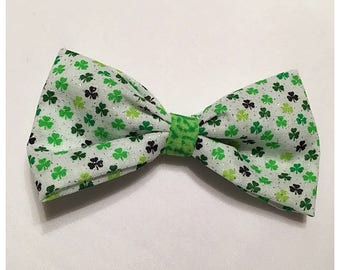 St. Patrick's Day Hairbow, Green Shamrock Hairbow, Hairbow, Green Hairbow, Shamrock Hairbow, Bows, Bowtie, SozBows