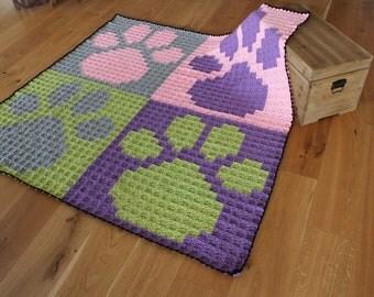 Dog or Cat Paw Print Blanket