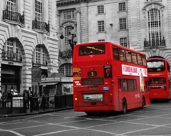 London Red Bus Print, London Photography Printable Photo Art, London Printable Wall Picture, English  Wall Art, London Picture Print Digital
