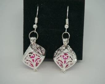 Cube pendant earrings