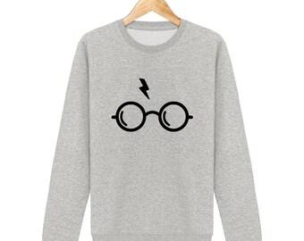 Harry potter glasses and bolt lightning Sweatshirt