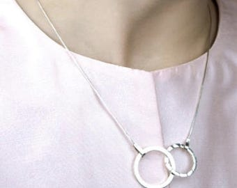 Inner Balance Circle - Silver Necklace