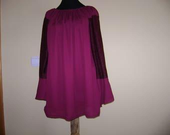 Women's blouse, Traditional blouse, Burgundy blouse