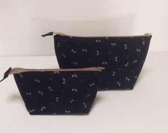 Small & medium makeup bag- travel pouch-cosmetic bag