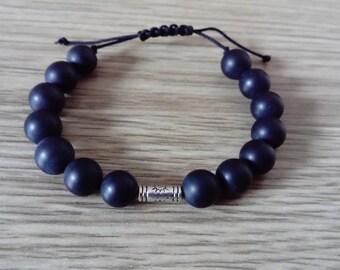 Mens matte onyx bracelet