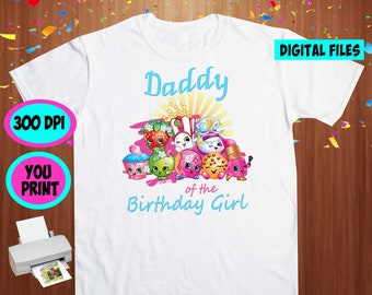Shopkins. Iron On Transfer. Shopkins Printable DIY Transfer. Shopkins Daddy Shirt DIY. Instant Download. Digital Files Only.