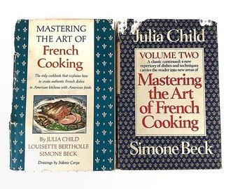 Mastering the Art of French Cooking Vol 1 & 2 by Julia Child Hardcover Vintage