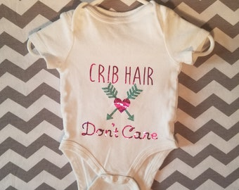 Crib Hair Dont Care baby onesie