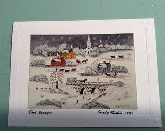 Photos of original art on greeting cards