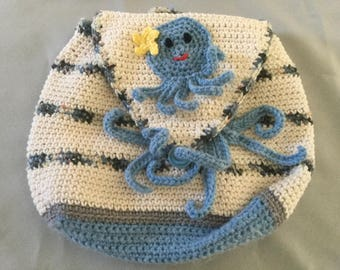Crochet childs backpack