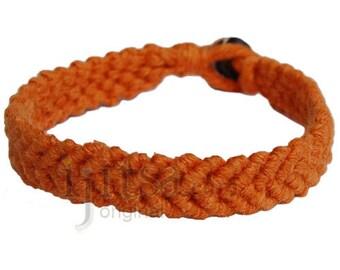 Pumpkin hemp Feather bracelet or anklet