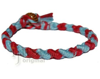 Gin and red hemp Dots bracelet or anklet