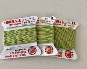 Lime Green Griffin Silk Cord Sz 8 10 14