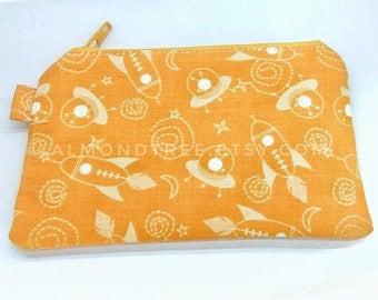 sale unpadded thin zip cardholder, wallet, gift for men, id1370288, travel organizer, portmonaie, spaceship