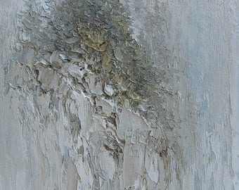 Winter Landscape,  OriginalAbstract,  Oil Painting, by Griselda Tello. Contemporary Abstract