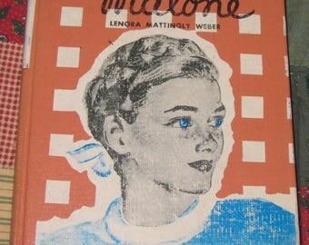 Vintage Book, Beany Malone Novel 1948, ninth printing Hardcover Book hardback, author Lenora Mattingly Weber