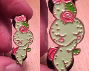 Kakusagi Prickle Cactus Bunny Enamel Pin