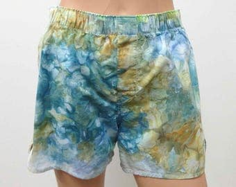 Boxer Shorts US Size S 30-31 GAP Hand Dyed Small Mens Underwear Underpants Skivvies Fun Colorful Playful Novelty Blue Green Brown Teal Beige