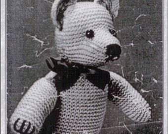 Vintage Teddy Bear Knitting Pattern