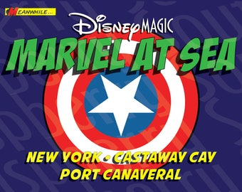Disney Magic Marvel at Sea New York Cruise Magnet 5x7