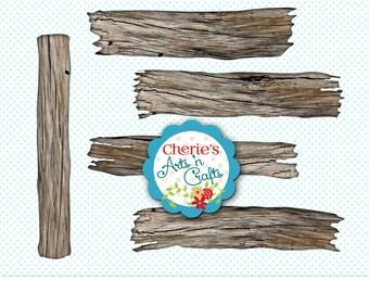 Rustic Wood Clip Art | Weathered Wood Clip Art | Beach Wood Clip Art | Designer Resources | Wood Signs Clip Art | PNG Clip Art | Graphic Art