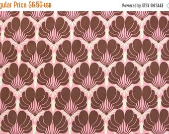 ON SALE - 10% Off Amy Butler Nigella Imperial Fans Pink Brown Home Dec Fabric BTY