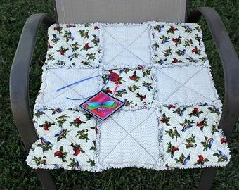 Cat Bed, Cat Blanket, Cat Bed With Birds, Travel Cat Blanket, Cat Quilt, Handmade Cat Blanket, Colorado Catnip Bed, Luxury Cat Blanket